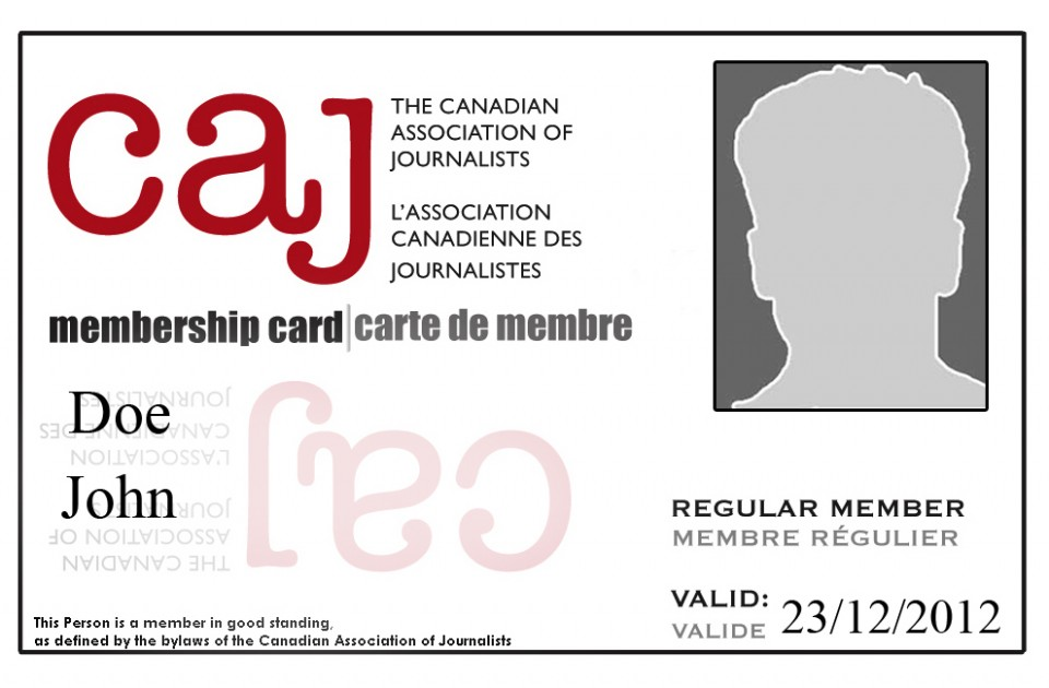 CAJ member card with photo.
